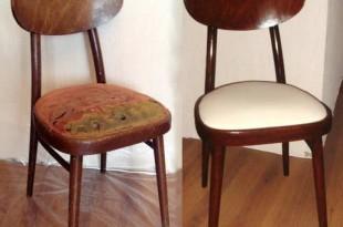 Перетяжка стульев фото до и после